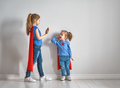 children are playing superhero - PhotoDune Item for Sale