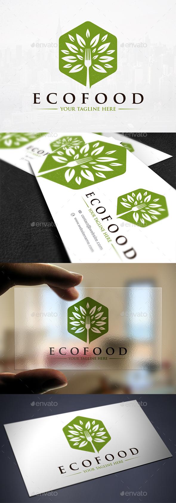Green Fork Tree Logo - Nature Logo Templates