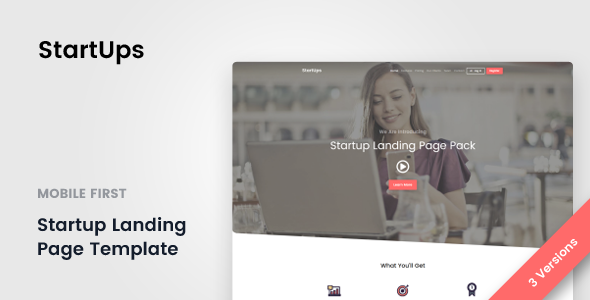 StartUps - Startup Landing Page - Landing Pages Marketing