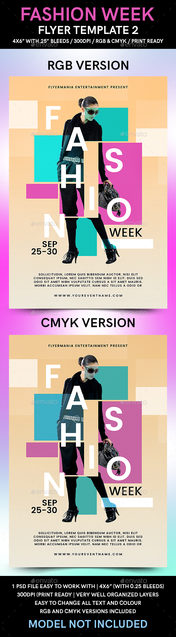 Fashion Week Flyer Template 2 - Flyers Print Templates