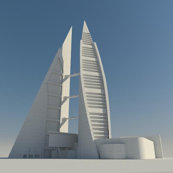 Bahrain World Trade Center - 3DOcean Item for Sale