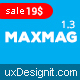 Maxmag - Magazine and Blogging WordPress Theme - ThemeForest Item for Sale