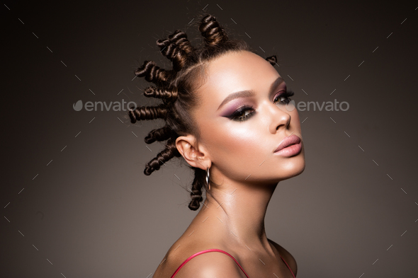Fashion portrait of beautiful woman. - Stock Photo - Images