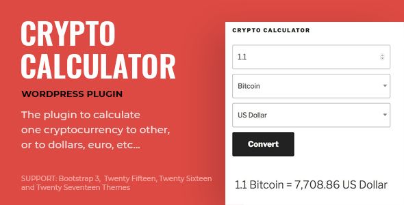 CryptoCalculator - WordPress Calculator for Cryptocurrencies
