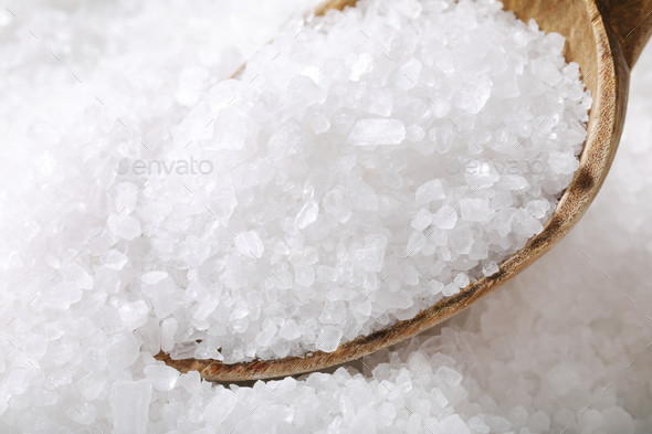 coarse grained salt - Stock Photo - Images