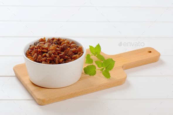 bowl of sweet raisins - Stock Photo - Images