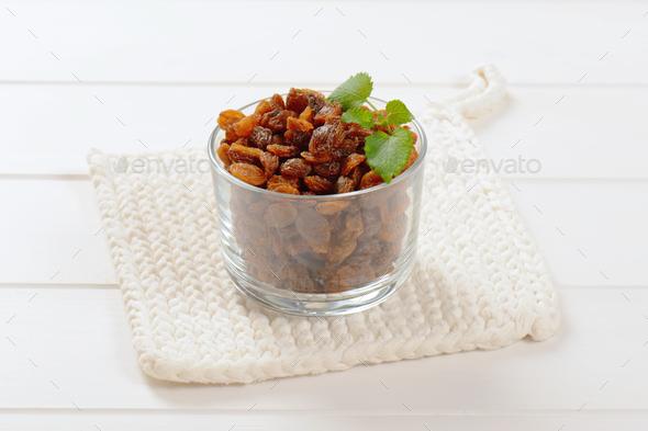 glass of sweet raisins - Stock Photo - Images