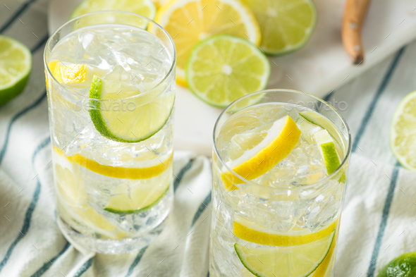 Homemade Lemon and Lime Water - Stock Photo - Images