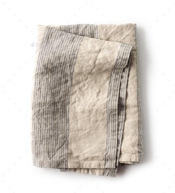 folded linen napkin - Stock Photo - Images