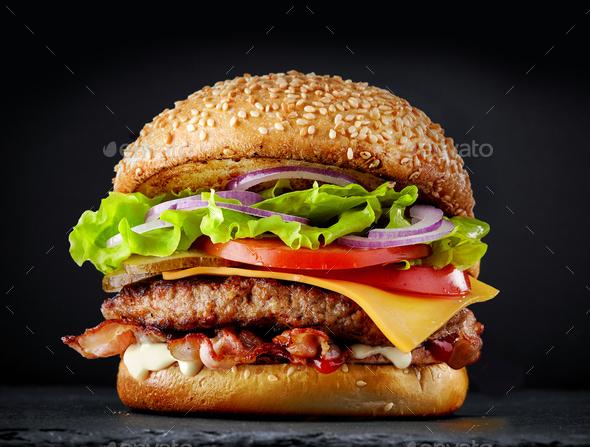 fresh tasty burger - Stock Photo - Images