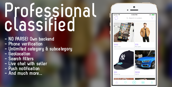 Professional classified with chat iOS - CodeCanyon Item for Sale