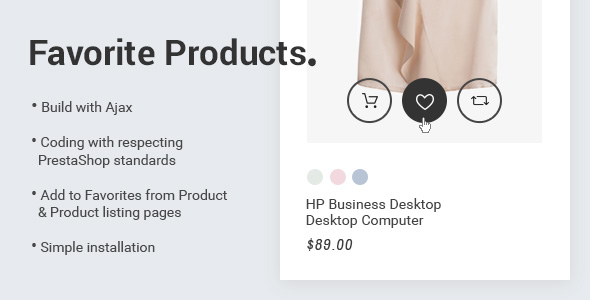 Prestashop 1.7 Favorite Products