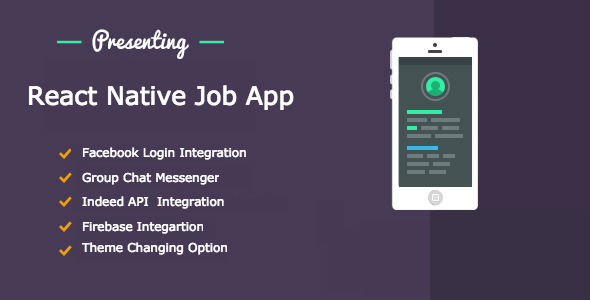 React Native Job App - CodeCanyon Item for Sale