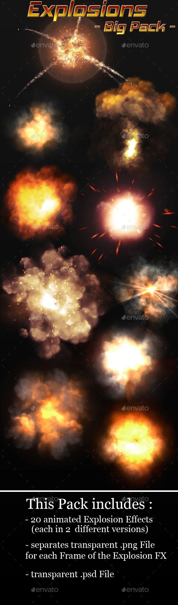 Explosion Sprites Pack - Sprites Game Assets