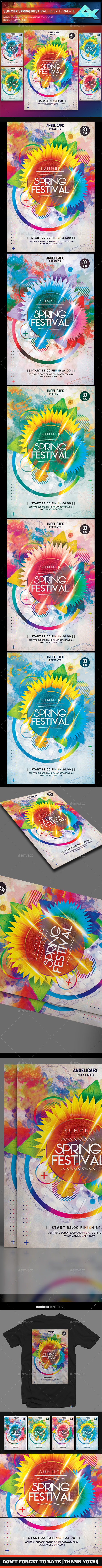 Summer Spring Festival Flyer Template - Flyers Print Templates