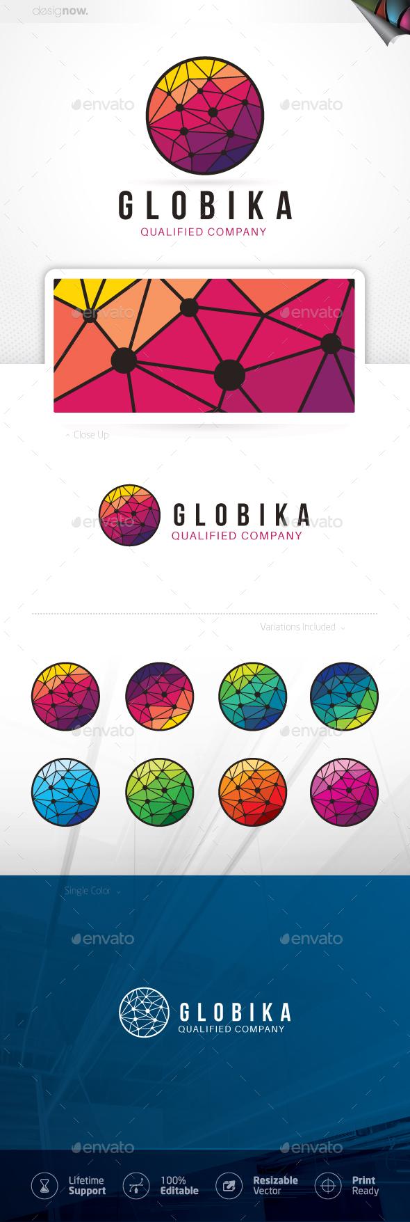 Polygon Circle Logo - Abstract Logo Templates