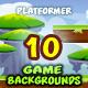 10 Platformer Game Backgrounds Set 02 - GraphicRiver Item for Sale