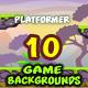 10 Platformer Game Backgrounds Set - GraphicRiver Item for Sale