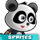 Panda Warrior 2 Game Character Sprites 221 - GraphicRiver Item for Sale