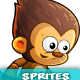 Monkey Warrior 2Game Character Sprites 220 - GraphicRiver Item for Sale