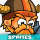Viking 2D Game Character Sprites 215 - GraphicRiver Item for Sale