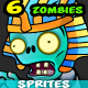 6 Egyptian Zombies Character Sprites Pack - GraphicRiver Item for Sale