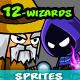 Mages & Wizards Game Character Sprites - GraphicRiver Item for Sale