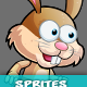 Warrior Bunny 2Game Character Sprites 207 - GraphicRiver Item for Sale
