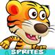 Tiger Warrior 2 Game Character Sprites 206 - GraphicRiver Item for Sale