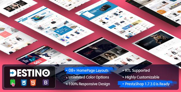 Image of Destino - Digital/Fashion Store PrestaShop 1.7.x Theme