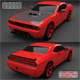 Dodge Challenger SRT10 with Full Textures & Materials