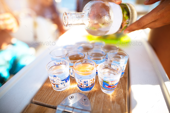 Party on the beach - Stock Photo - Images