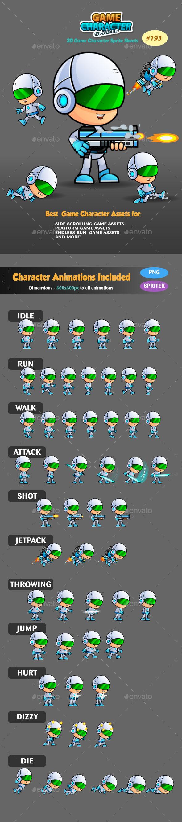 2D Game Character Sprites 193 - Sprites Game Assets