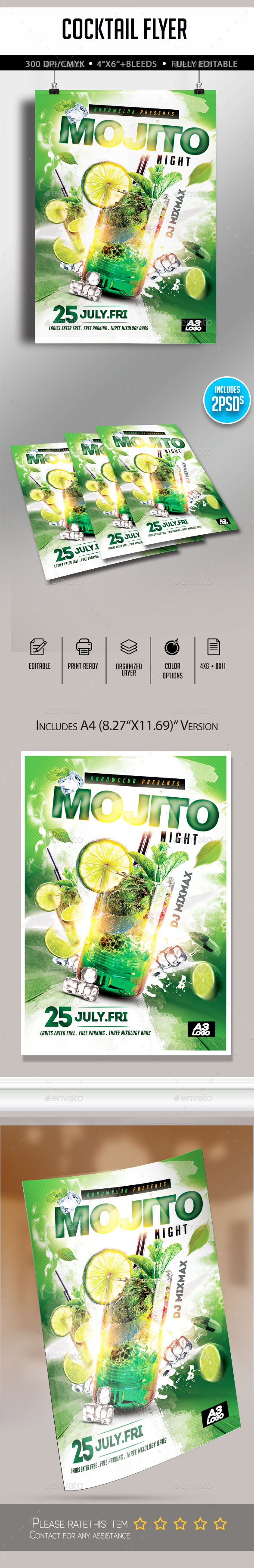 Mojito Night Flyer - Flyers Print Templates