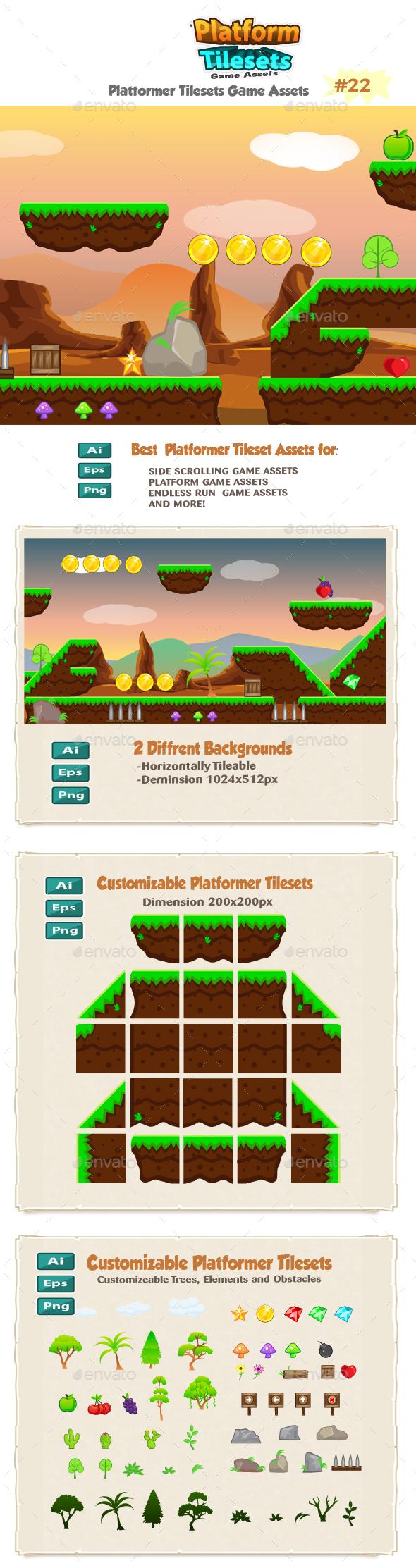 Rocky Place Game  Platformer Tilesets 22 - Tilesets Game Assets