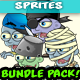 18 Zombies 2D Game Character Sprites Bundle Pack 03 - GraphicRiver Item for Sale