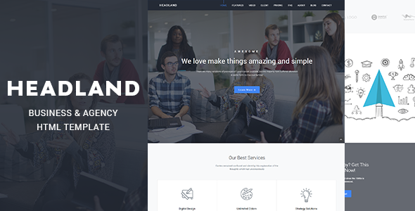 HEADLAND - Agency Business Responsive Bootstrap 4 Landing Page Template