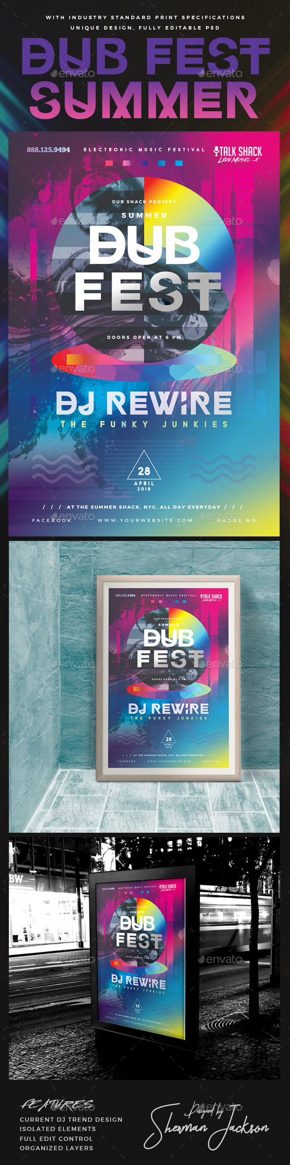 Dub Fest Summer Experimental Poster - Clubs & Parties Events