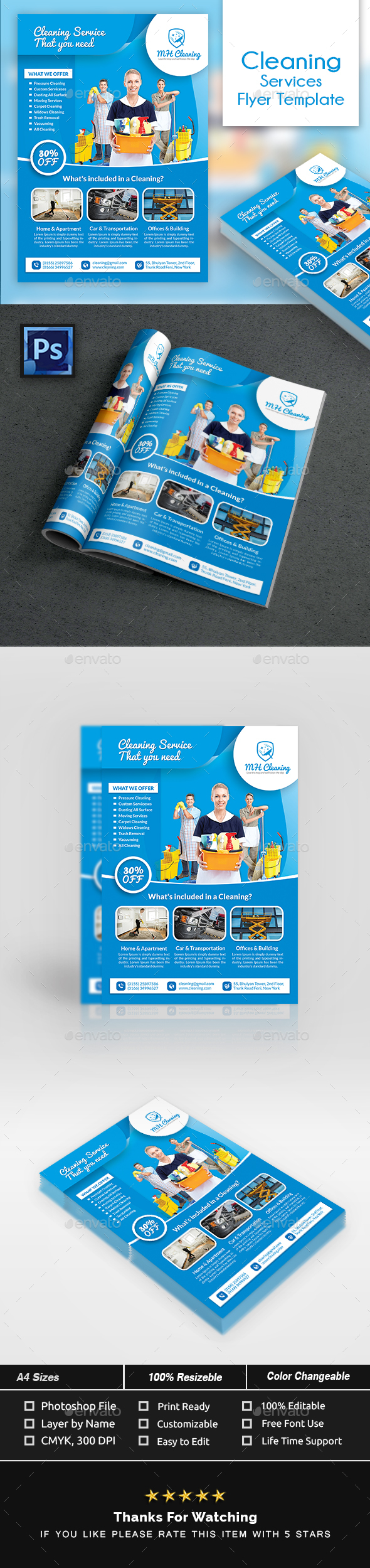 Cleaning Services Flyer Template - Commerce Flyers