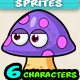 Mushrooms Game Enemies  character Sprites 171 - GraphicRiver Item for Sale