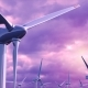 Wind Generators Farm Against a Purple Sky Loop - VideoHive Item for Sale