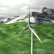 Wind Generators Farm on Field Against a Mountains - VideoHive Item for Sale