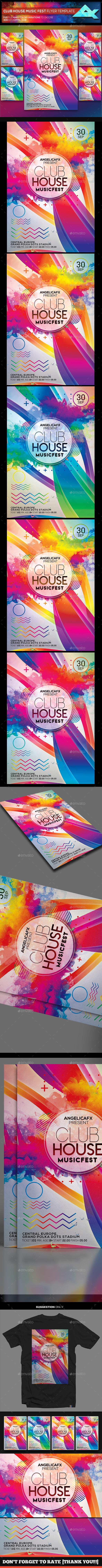 Club House Music Fest Flyer Template - Flyers Print Templates