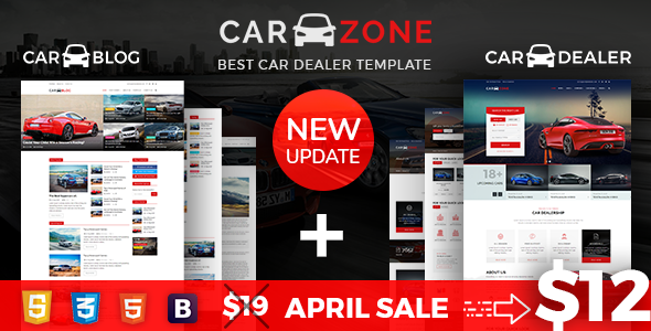 CarZone - A Complete Car Dealer HTML Wire-Frame - Creative Site Templates