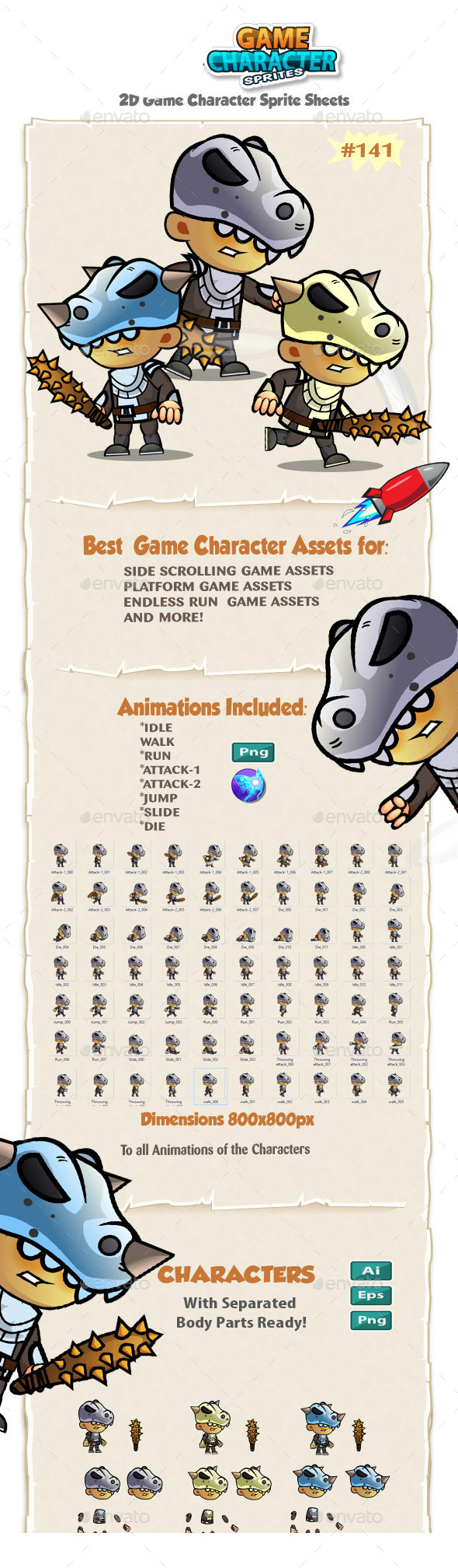 Enemy Character Sprites 141 - Sprites Game Assets