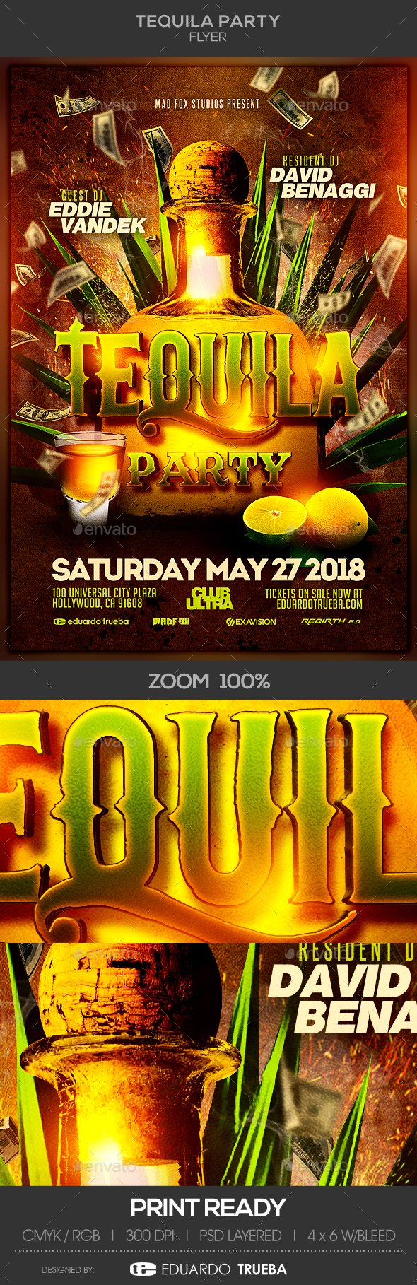 Tequila Party Flyer - Clubs & Parties Events