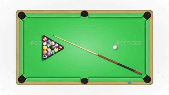 Accessories to a game in pool billiards - Objects Vectors