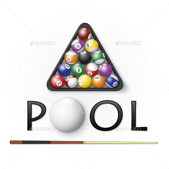 Pool billiards background - Sports/Activity Conceptual