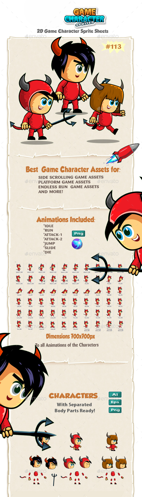 Vikings 2D Game Character Sprites 112 - Sprites Game Assets