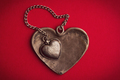 two vintage heart shaped jewels on top of each other - PhotoDune Item for Sale